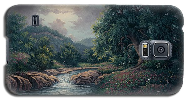 Galaxy S5 Case featuring the painting Whispering Night by Kyle Wood