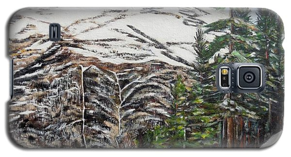Galaxy S5 Case featuring the painting Whispering Pines by Marilyn  McNish