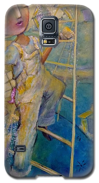 Galaxy S5 Case featuring the painting Whistle While You Work by Eleatta Diver