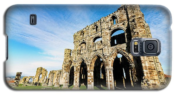 Galaxy S5 Case featuring the photograph Whitby Abbey by Anthony Baatz