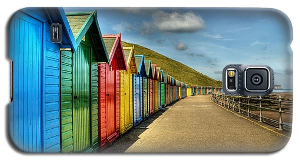 Whitby Beach Huts Galaxy S5 Case