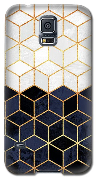 White And Navy Cubes Galaxy S5 Case