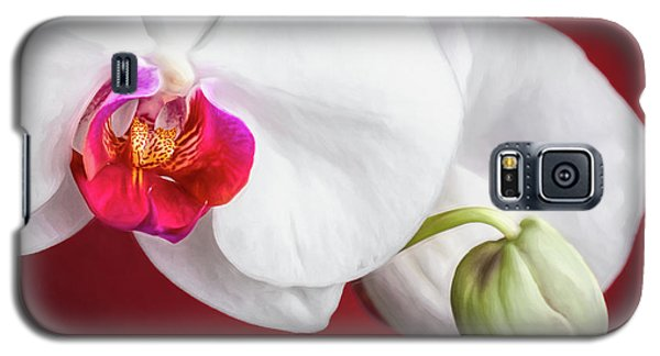 Orchid Galaxy S5 Case - White And Red Orchids by Tom Mc Nemar