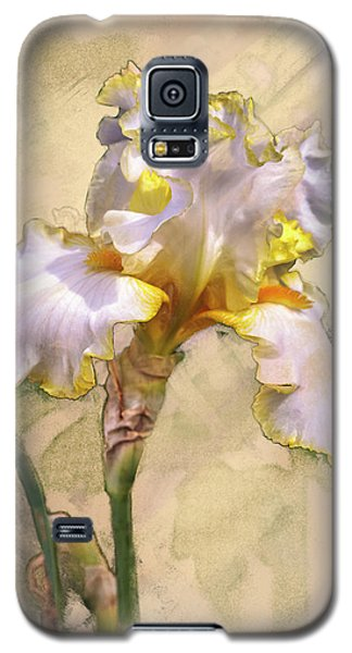 White And Yellow Iris Galaxy S5 Case