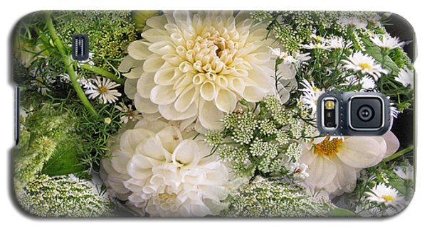Galaxy S5 Case featuring the photograph White Anniversary Bouquet by Geraldine Alexander