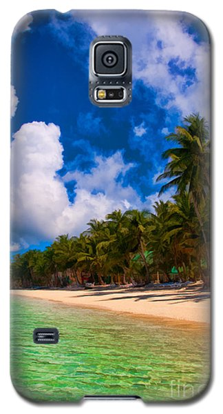 Galaxy S5 Case featuring the photograph White Beach Boracay by Joerg Lingnau