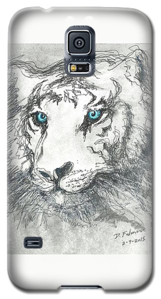 White Bengal Tiger Galaxy S5 Case