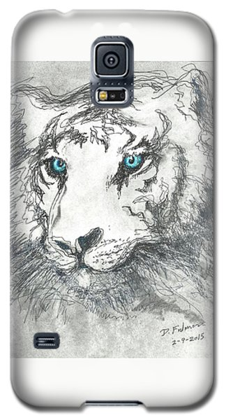 White Bengal Tiger Galaxy S5 Case by Denise Fulmer
