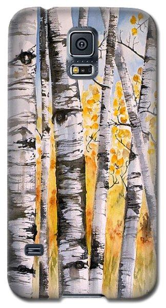 White Birch Meadow Galaxy S5 Case