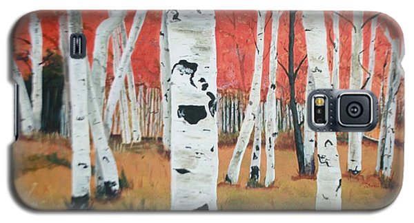 Galaxy S5 Case featuring the painting White Birches by Betty-Anne McDonald