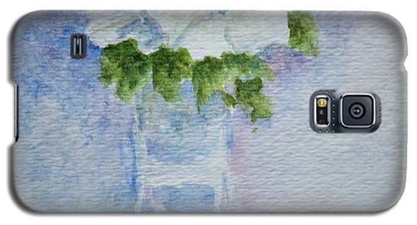White Blooms In Blue Vase Galaxy S5 Case