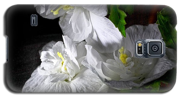 White Blossoms Galaxy S5 Case
