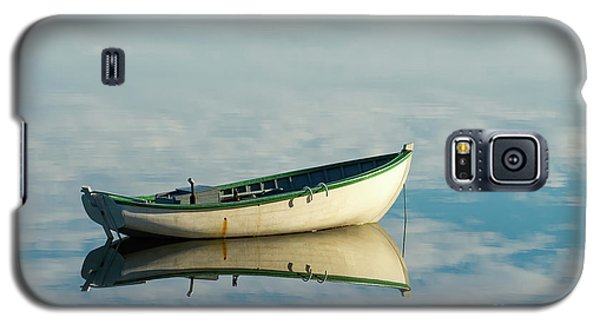 White Boat Reflected Galaxy S5 Case