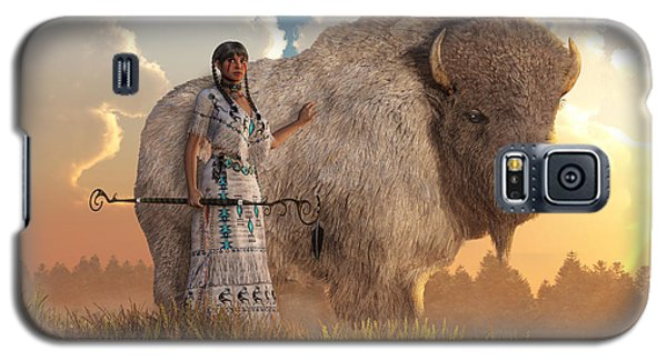 White Buffalo Calf Woman Galaxy S5 Case