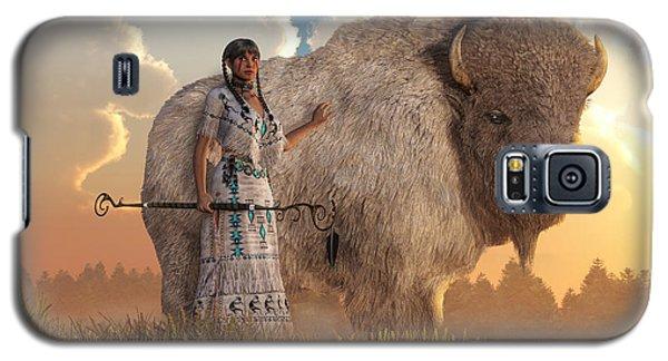 White Buffalo Calf Woman Galaxy S5 Case