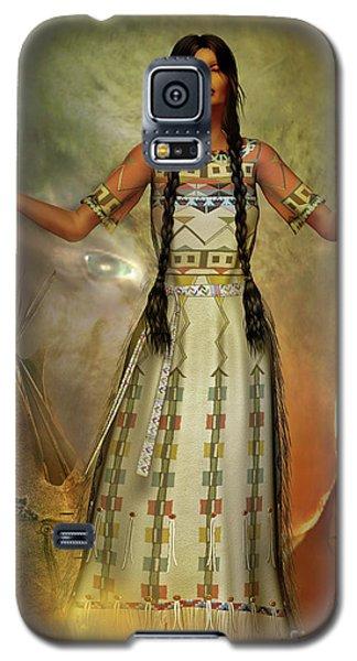 White Buffalo Calf Woman Galaxy S5 Case by Shadowlea Is