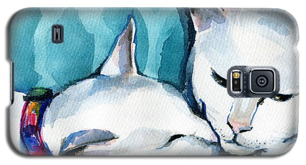 White Cat Affection Galaxy S5 Case