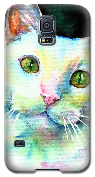 White Cat Galaxy S5 Case