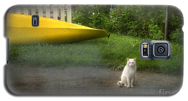White Cat, Yellow Canoe Galaxy S5 Case