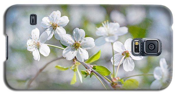 Galaxy S5 Case featuring the photograph White Cherry Blossoms In Spring by Alexander Senin