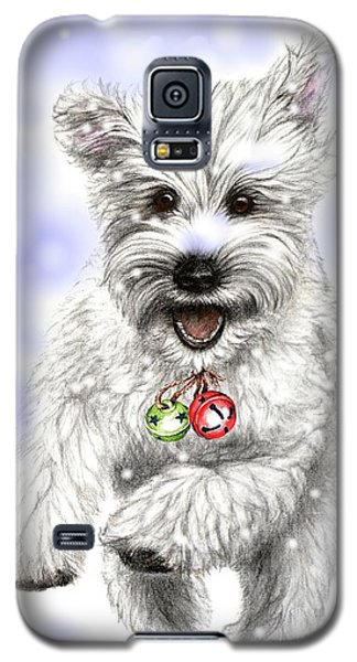White Christmas Doggy Galaxy S5 Case