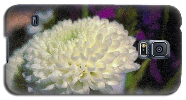 Galaxy S5 Case featuring the photograph White Chrysanthemum Flower by David Zanzinger
