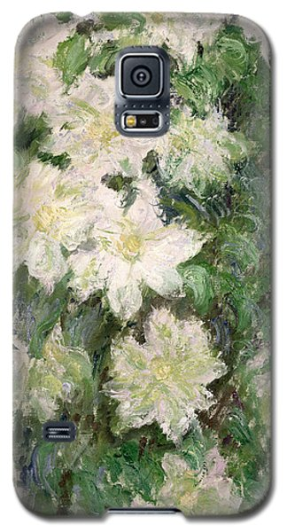 White Clematis Galaxy S5 Case by Claude Monet
