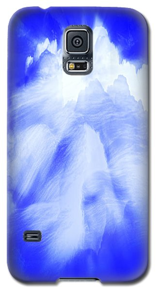 Galaxy S5 Case featuring the photograph White Cloud In Blue by Kellice Swaggerty