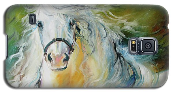 White Cloud The Andalusian Stallion Galaxy S5 Case