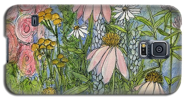 White Coneflowers In Garden Galaxy S5 Case by Laurie Rohner