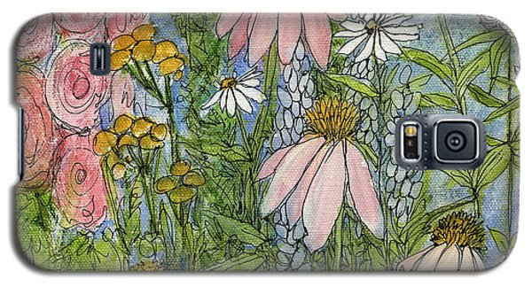 White Coneflowers In Garden Galaxy S5 Case