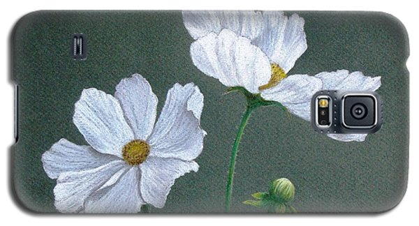 White Cosmos Galaxy S5 Case by Phyllis Howard