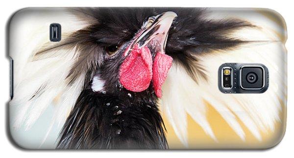 White Crested Black Polish  Galaxy S5 Case