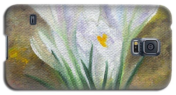 White Crocus Galaxy S5 Case