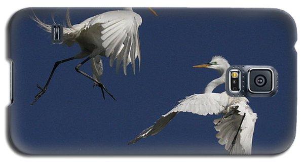White Egret Ballet Galaxy S5 Case