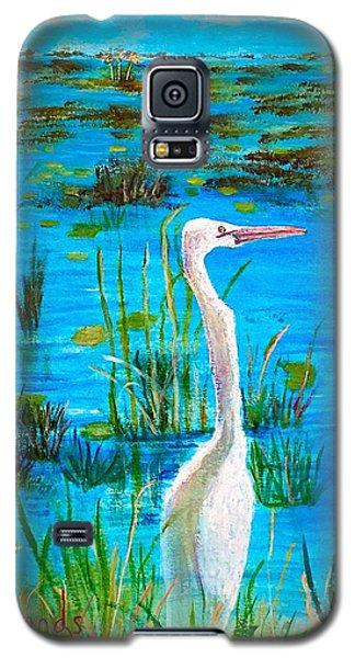 White Egret In Florida Galaxy S5 Case