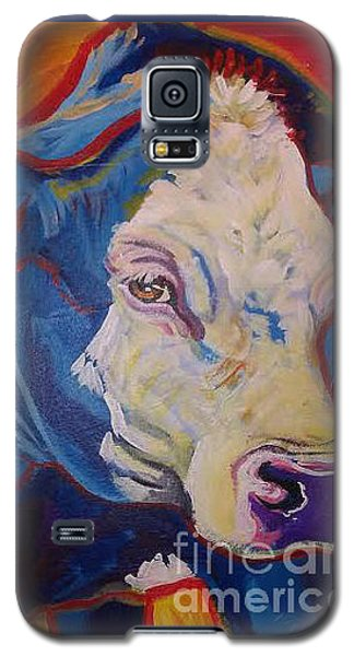 White Face Cow Galaxy S5 Case by Jenn Cunningham
