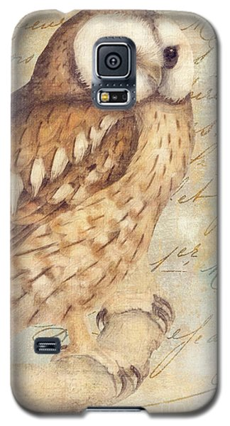 White Faced Owl Galaxy S5 Case by Mindy Sommers