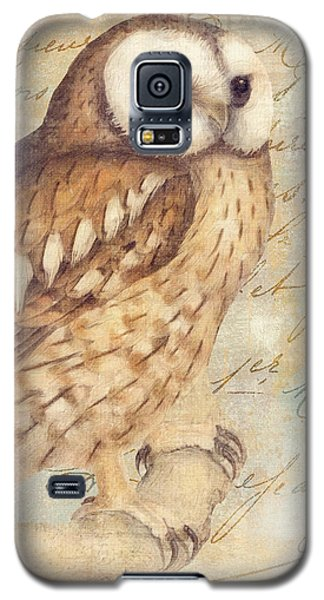 Owl Galaxy S5 Case - White Faced Owl by Mindy Sommers