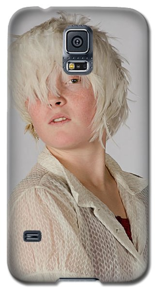 White Feather Wig Girl Galaxy S5 Case