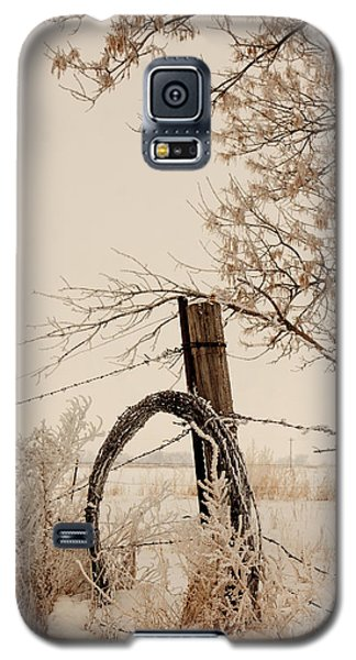 White Fence Galaxy S5 Case