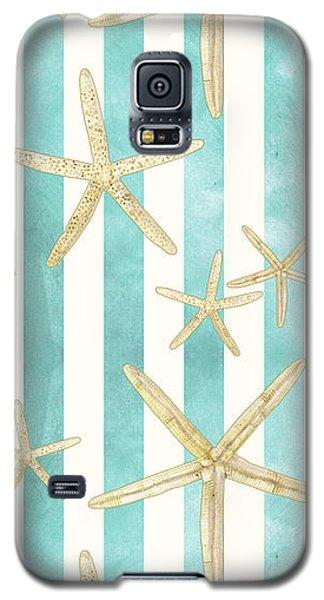 White Finger Starfish Watercolor Stripe Pattern Galaxy S5 Case