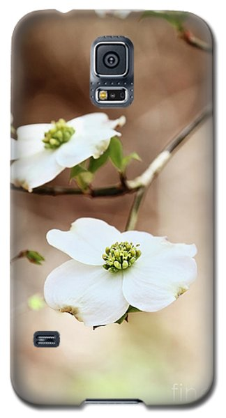 Galaxy S5 Case featuring the photograph White Flowering Dogwood Tree Blossom by Stephanie Frey
