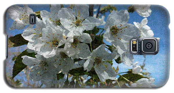 White Flowers - Variation 2 Galaxy S5 Case