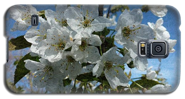 White Flowers - Variation 2 Galaxy S5 Case