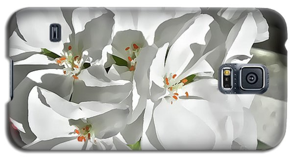 White Geraniums Galaxy S5 Case