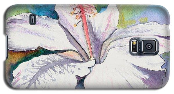 White Hibiscus Waimeae Galaxy S5 Case