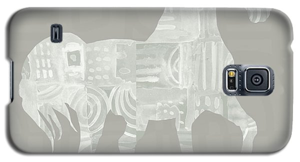 White Horse Galaxy S5 Case - White Horse 1- Art By Linda Woods by Linda Woods