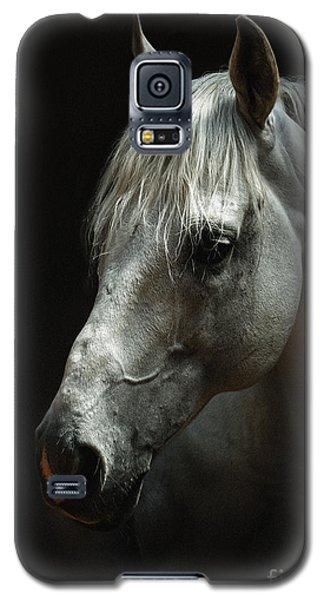 White Horse Portrait Galaxy S5 Case