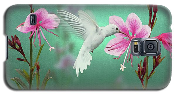 White Hummingbird And Pink Guara Galaxy S5 Case